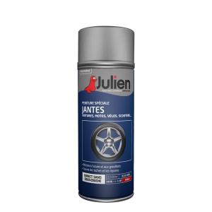 Peinture en aérosol spéciale jantes gris brillant - Julien - 400 ml