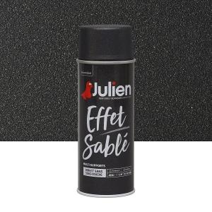 Aérosol peinture effet sablé multi-supports noir - Julien - 400 ml