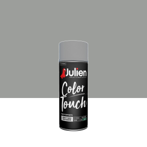Aérosol Color Touch - Peintures Julien - Satin - Titanium - 0.4 L