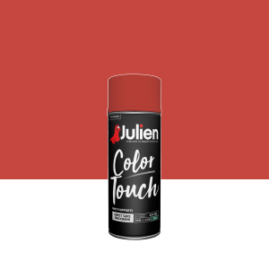 Aérosol Color Touch - Peintures Julien - Satin - Rouge feu - 0.4 L