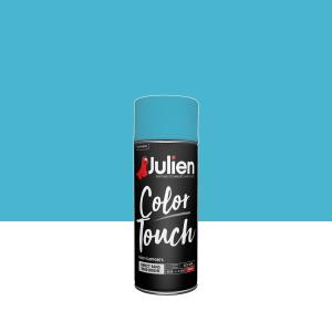 Aérosol Color Touch - Peintures Julien - Brillant - Bleu Caraïbes - 0.4 L