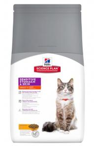 Aliment chat Science Plan Feline Adult Sensitive Stomach & Skin au Poulet - Hill's - 1,5 Kg