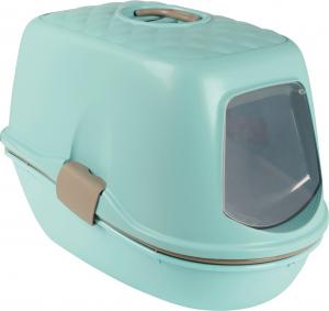 Bac à litière - Berto Top - Trixie - Avec système de séparation - Bleu/Taupe/Granit