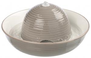 Fontaine à boire Vital Flow - Trixie - En céramique - 1.5 L - Gris/blanc
