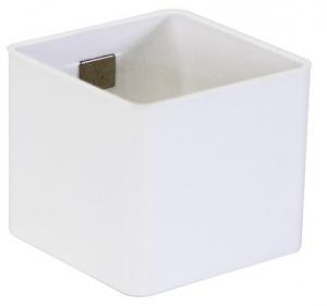 Pot magnétique cube - Kalamitica - Blanc - 6 cm