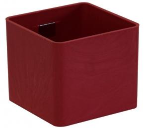 pot magnétique cube - Kalamitica - Rouge vif - 6 cm