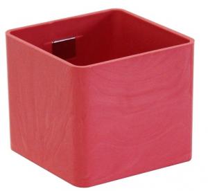 Pot magnétique cube - Kalamitica - Corail - 6 cm