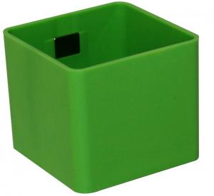 Pot magnétique cube - Kalamitica - Émeraude - 6 cm