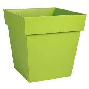Pot carré Toscane - 32 x 32 cm - Vert
