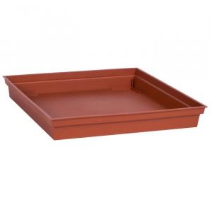 Soucoupe pour Pot carré Toscane - 26,7 x 26,7 cm - Orange Potiron