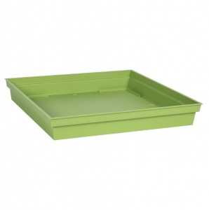 Soucoupe pour Pot carré Toscane - 32,6 x 32,6 cm - Vert