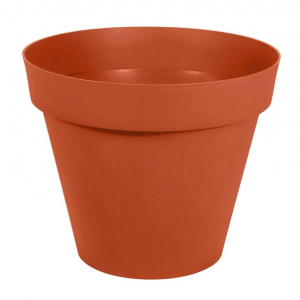 Pot rond Toscane - Ø 80 x 67 cm - Orange Potiron