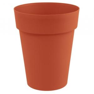 Pot mi-haut rond Toscane - Ø 44 x 53 cm - Orange Potiron
