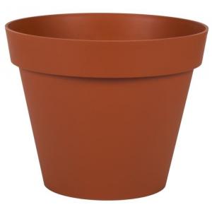 Pot rond Toscane - Ø 30 x 26 cm - Orange Potiron