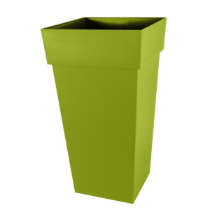 Pot carré XXL Toscane - 44 x 44 x 80 cm - Vert