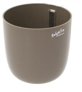 Pot magnétique pour orchidée boule - Kalamitica - Taupe - 12 cm
