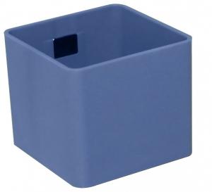 Pot magnétique cube - Kalamitica - Bleu gris - 6 cm