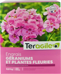 Engrais géraniums et plantes fleuries - UAB - Teragile - 0,8 kg