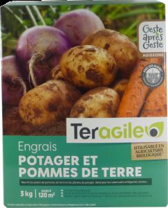 Engrais potager et pommes de terre UAB - Teragile - 3 kg