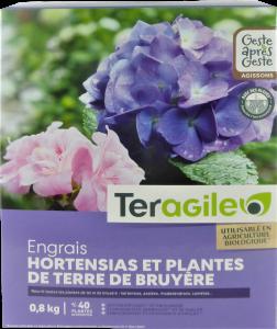 Engrais hortensias et plantes de terre de bruyère UAB - Teragile - 0,8 kg