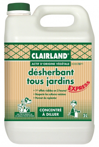 Désherbant concentré tous jardins - Clairland - 5 L
