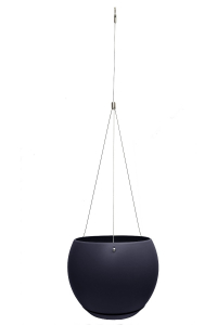 Suspension Lune - 25 cm - Noir violine