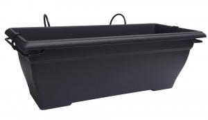 Jardinière Aquarelle et support - 50 cm - Noir