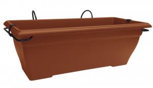 Jardinière Aquarelle et support - 50 cm - Terre cuite