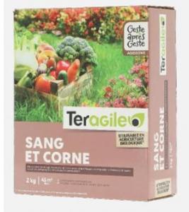 Corne broyée et sang desséché - Teragile - 2kg