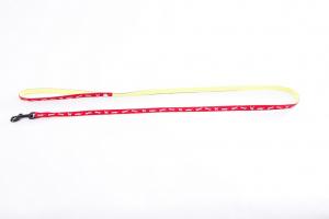 Laisse nylon Chat bicolore - Martin Sellier - 10 mm x 120 cm - Rouge