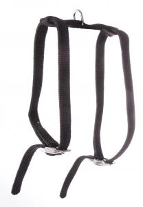 Harnais réglable nylon tubulaire - Martin Sellier - 10 mm x 35/40 cm - Noir