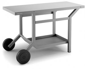 Table roulante TRA pour plancha - Forge Adour - Acier - gris anthracite - 119x64x76 cm