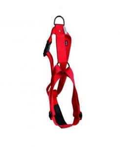 Harnais réglable en nylon - Martin Sellier - 40 mm x 90/110 cm - Rouge