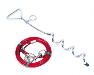 Piquet + câble d'attache pour chien - Martin Sellier - 3 m