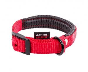 Collier confort réglable - Martin Sellier - 20 mm x 45 cm - Rouge