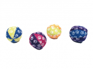 Balles motifs Pattes phosphorescentes - Martin Sellier - Pour chat - x 2