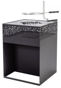 Barbecue plancha et braséro cube - Feu du Jardin - 118x118x56 cm