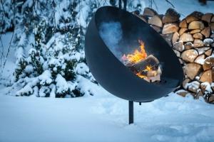 Barbecue et braséro lune - Feu du Jardin - 100x100x127 cm