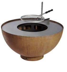 Barbecue plancha et brasero boule - Feu du Jardin - 100x100x50 cm