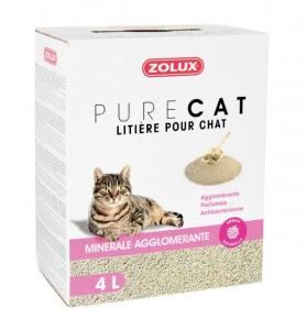 Litière Pure Cat - Minérale Agglomérante - Zolux - 4 L