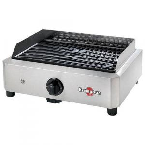 Barbecue électrique Mythic - Krampouz - inox et acier en fonte émaillée - 1700 W - 46x36x19 cm