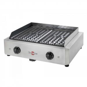Barbecue électrique Mythic XL - Krampouz - inox et acier en fonte émaillée - 2x1700 W - 59x50x21 cm