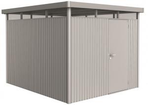 Abri de jardin en métal argent - Highline - taille 5 - 275 x 315 x 222 cm - porte standard