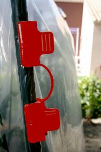 Clips rouges pour Tomato tuteur x10 - Nortene - 16 mm