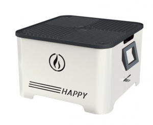 Barbecue portable Happy - Linea Grilly - granulés - bianco - 35 x 35 x 23 cm