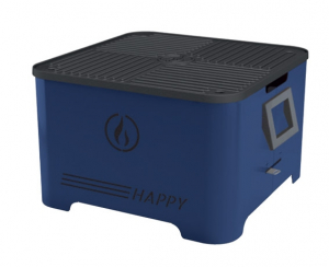 Barbecue portable Happy - Linea Grilly - granulés - blu - 35 x 35 x 23 cm