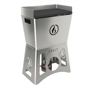 Barbecue portable Grilly - Linea Grilly - granulés - inox - 63 x 39 x 96 cm