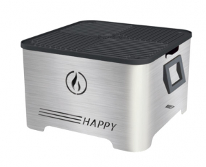 Barbecue portable Happy - Linea Grilly - granulés - inox - 35 x 35 x 23 cm