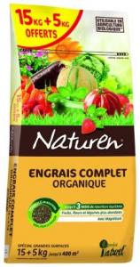ENGRAIS COMPLET ORGANIQUE 15 + 5 KG - NATUREN