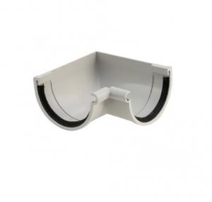 Angle intérieur de gouttière développé de 16 - GIRPI - PVC - Gris